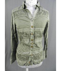 Elly Italia Bluse grün-grau verwaschen