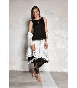 Elisa Cavaletti jupe courte noir et blanc