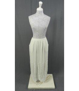 Elisa Cavaletti longue jupe blanc nacré
