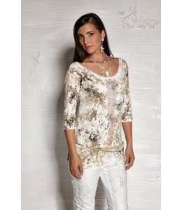 Elisa Cavaletti T-Shirt beige gefleckt