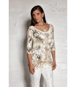Elisa Cavaletti t-shirt beige tacheté