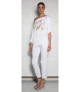 Eleonora Cavaletti Shirt weiss bedruckt