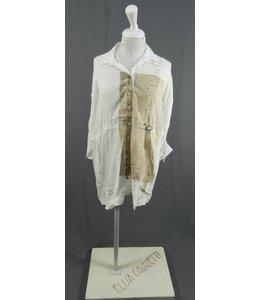 Eleonora Cavaletti chemisier blanc imprimé