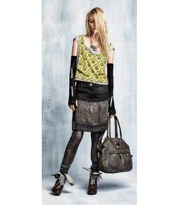 Elisa Cavaletti Jeans Minirock schwarz-antrazith verwaschen