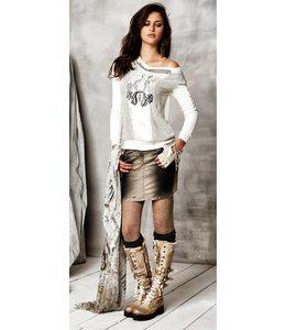 Elisa Cavaletti Jeans-Minirock braun verwaschen