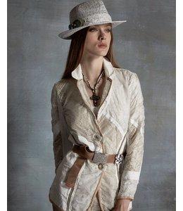 Elisa Cavaletti Blazer weiss-beige
