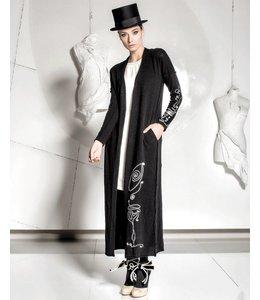 Elisa Cavaletti Longue manteau tricoté noir