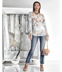 Elisa Cavaletti Bedrucktes T-Shirt silbergrau