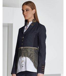 Elisa Cavaletti Veste en Jeans bleu foncé et or