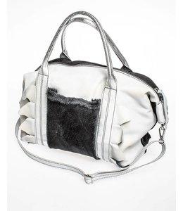 Elisa Cavaletti Leather Bag ecru-black