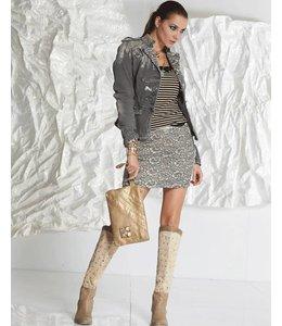 Elisa Cavaletti Jeans-Minirock grau verwaschen