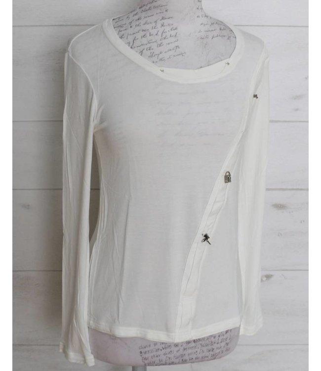 Elisa Cavaletti Basic-Shirt ecru