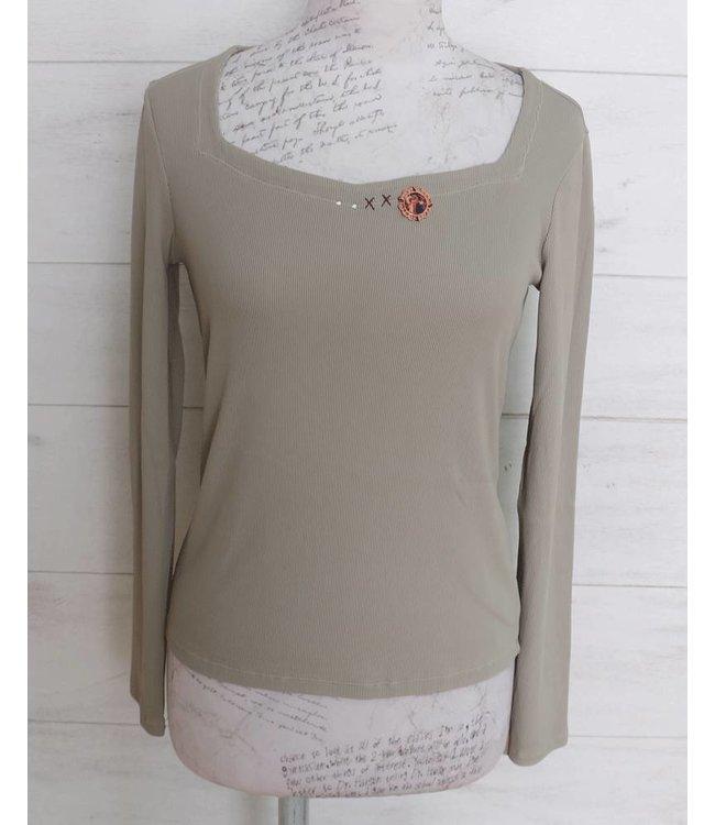 Elisa Cavaletti Basic-Shirt taupe