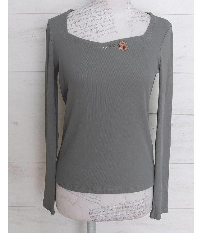 Elisa Cavaletti Basic-Shirt hellgrau