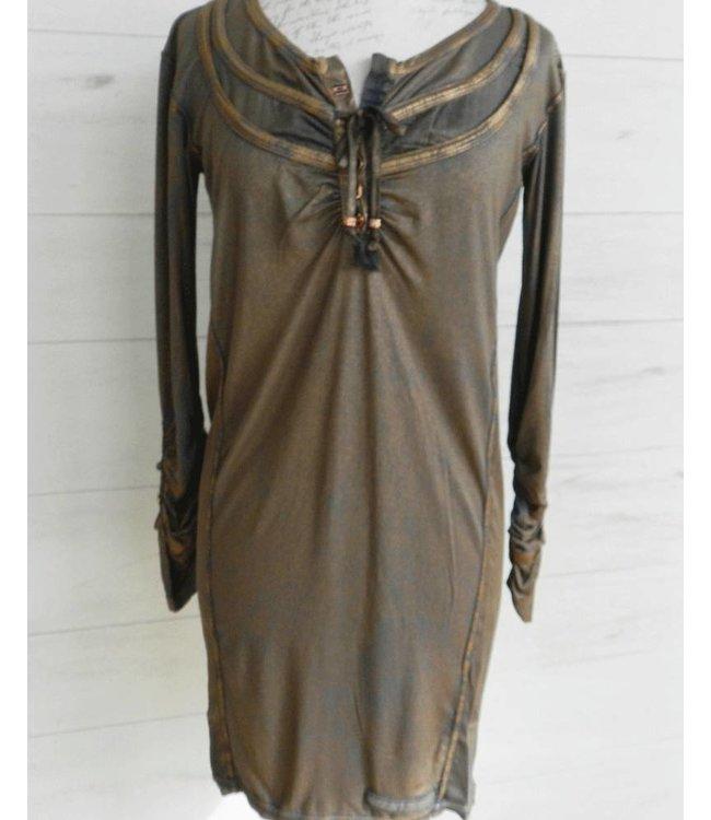 Elisa Cavaletti Dress dunkelblau-rotgold
