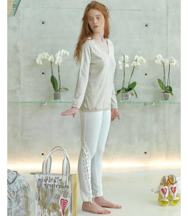 Elisa Cavaletti Pullover V-Neck sand