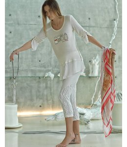 Elisa Cavaletti Langes T-Shirt sand