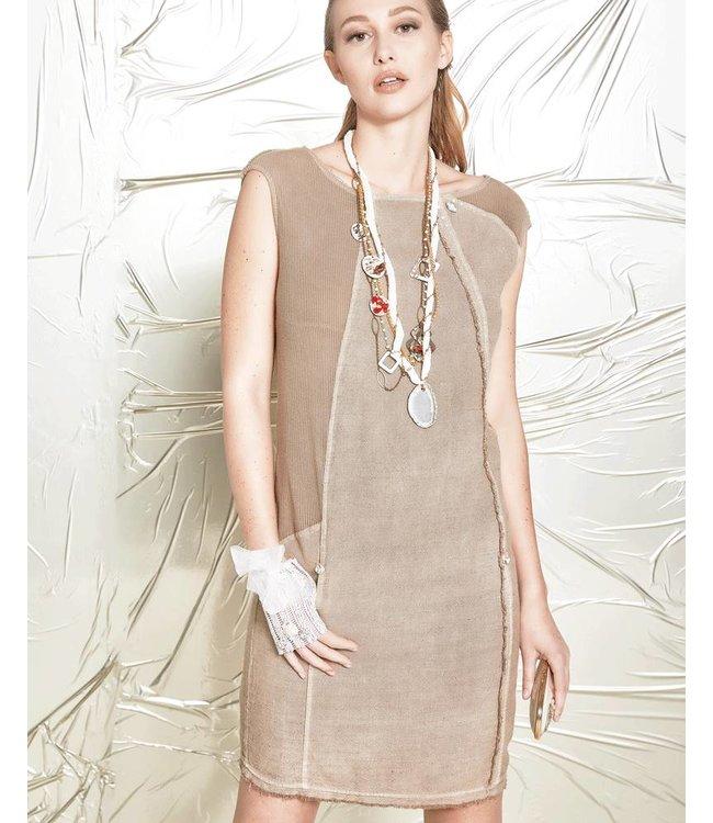 Elisa Cavaletti Aermelloses Kleid braun