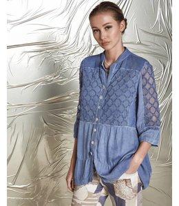 Elisa Cavaletti Denim-blue blouse
