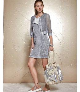 Elisa Cavaletti Robe gris argenté