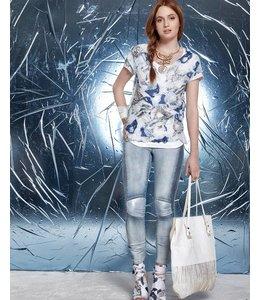 Elisa Cavaletti T-Shirt weiss bedruckt