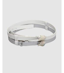 fe8f75f0f5fa4 Elisa Cavaletti Belt white-silver
