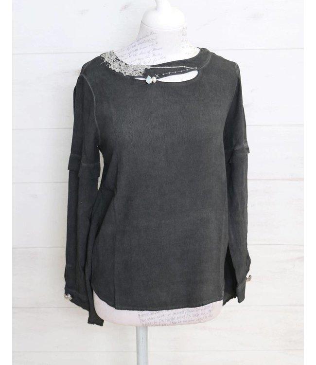 Elisa Cavaletti Shirt blouse faded black