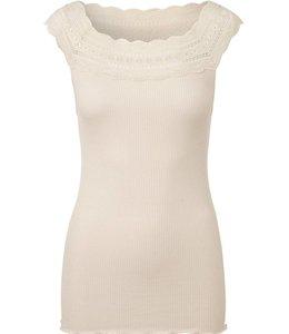 Rosemunde Basic stretch top light beige