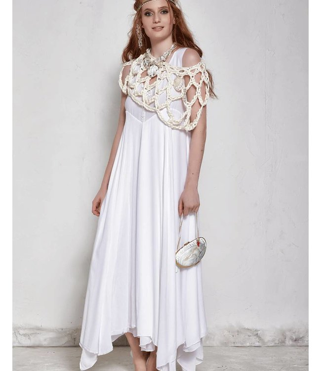 Langes Kleid weiss - modepur