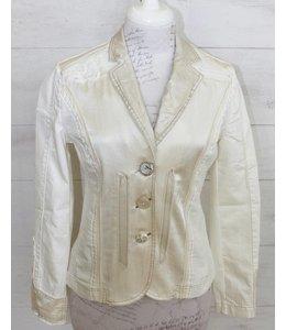 Elisa Cavaletti Short denim jacket ecru