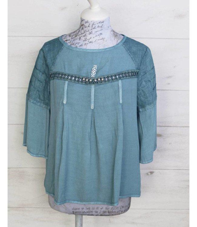 Elisa Cavaletti Blusen-Shirt jeansblau