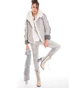 Elisa Cavaletti Winter jacket silver and grey