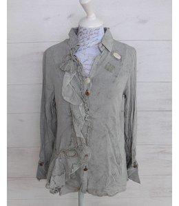 Elisa Cavaletti Romantic blouse faded silver grey