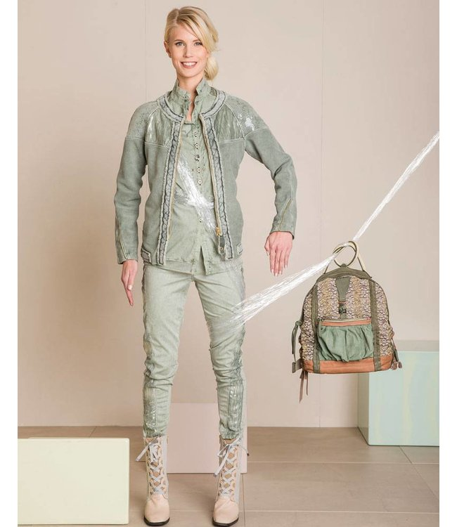 Elisa Cavaletti Short jacket pale green