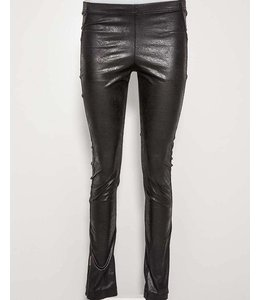 Elisa Cavaletti Black leather look leggings