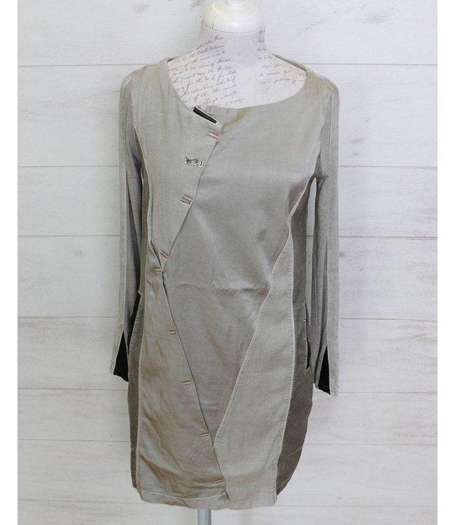 Elisa Cavaletti Robe gris argent