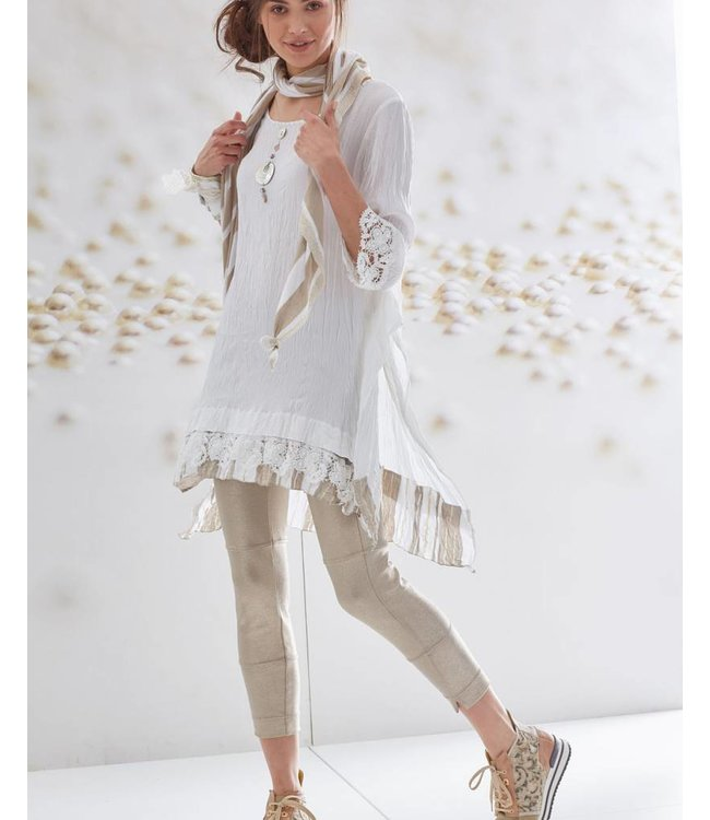 Elisa Cavaletti Langes Shirt Bianco-Martini