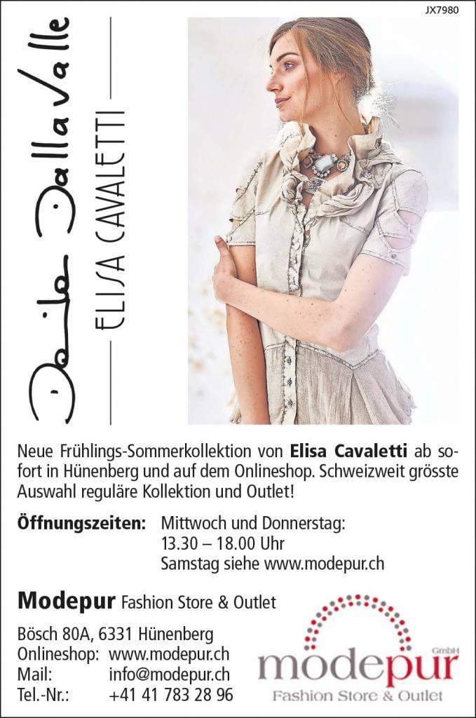 Elisa Cavaletti Inserat in der Zuger und Neuen Zürichsee Zeitung