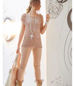 Elisa Cavaletti Knitted jumper Deserto-Bianco