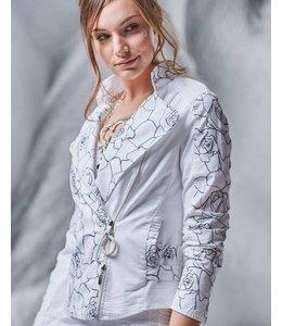 Elisa Cavaletti Short jacket Bianco-Nero