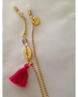Touw#Pink#Pompon