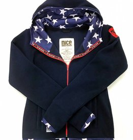 USA POLAR-Fleece Hoodie Midnightblue