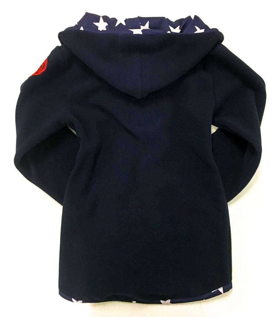 USA POLAR-Fleece Hoodie Midnightblue