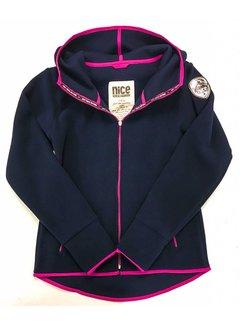 POLAR-Fleece Hoodie Midnight-Pink