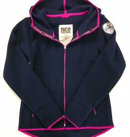 POLAR-Fleece Hoodie Midnight-Pink