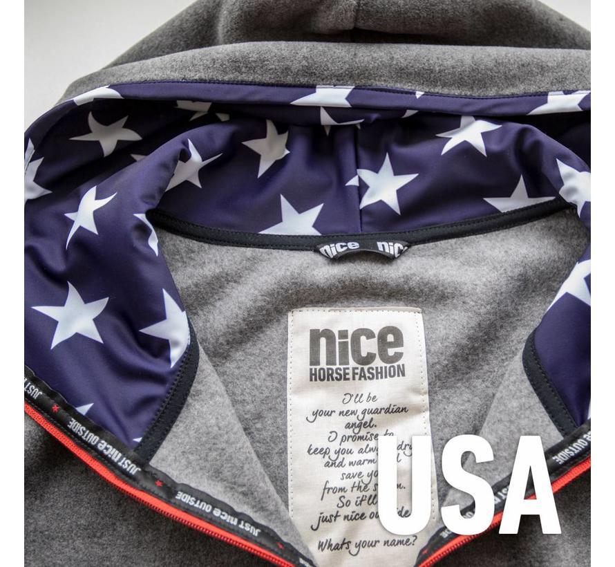 Essentials Fleece-Jacke Grey