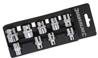 """Silverline 9-delige imperale doppen set met 3/8"""" aandrijving 1/4"""" - 3/4"""""""