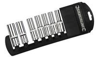 """Silverline 7-delige 1/2"""" metrische diepe doppen set 10 - 19 mm"""