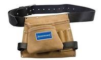 Silverline Lederen spijker en gereedschapsriem met 8 vakken, 260 x 230 mm