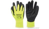 Silverline Felgekleurde gele bouwhandschoenen